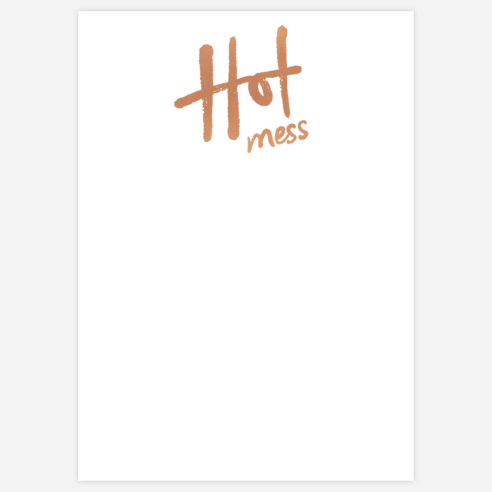 hot mess pad in bronze foil