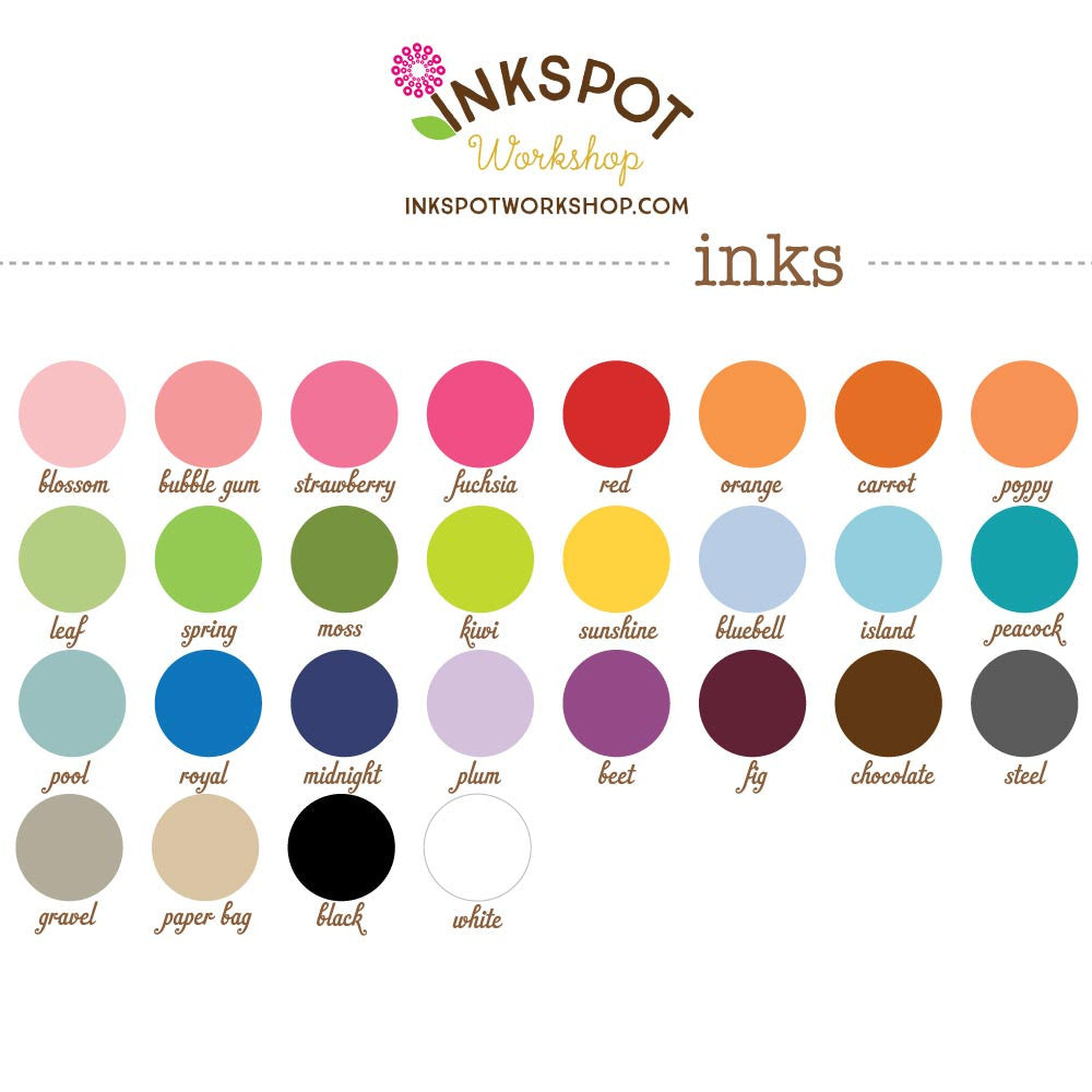 ink colors from InkSpot Workshop