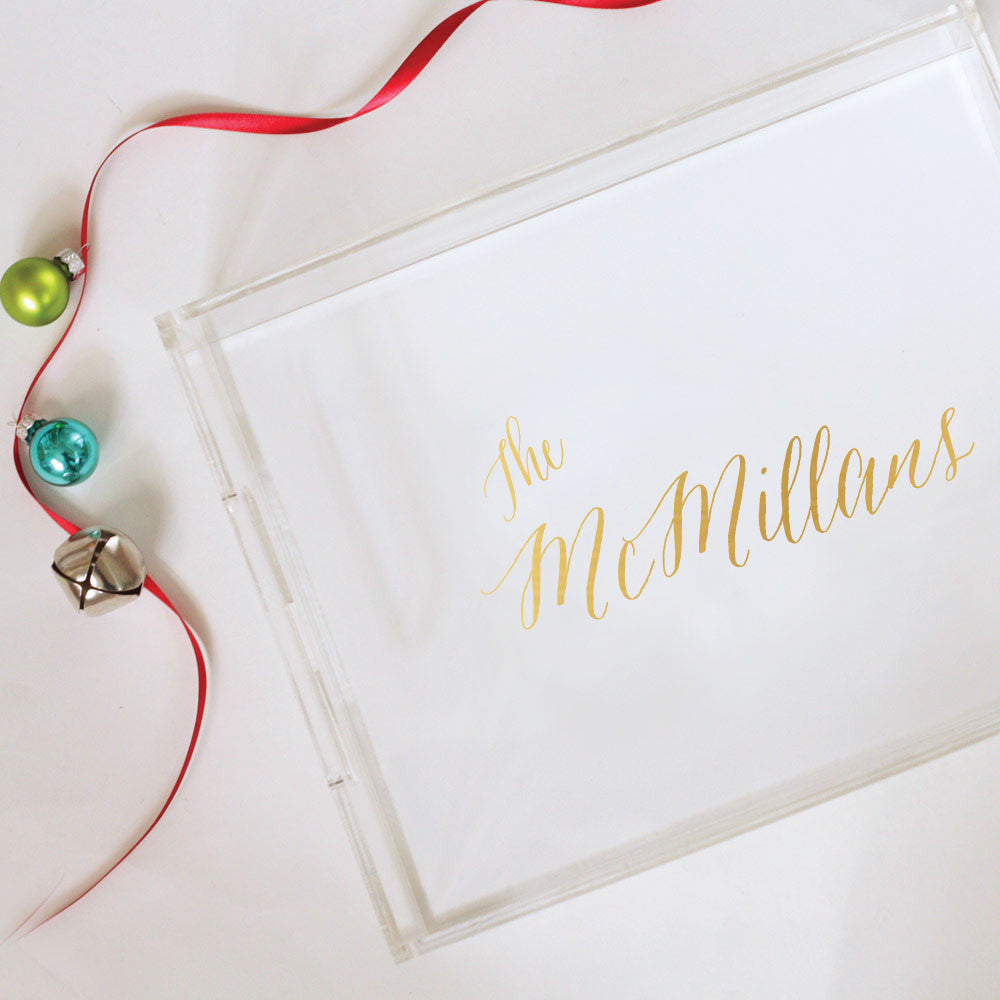 Personalized Foil Tray