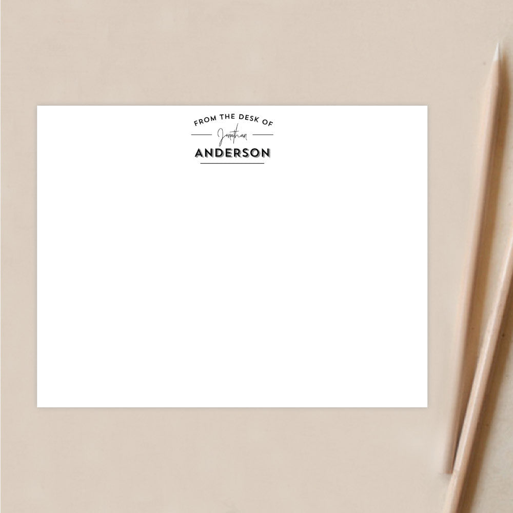 Personalized Stationery | Retro Stamp