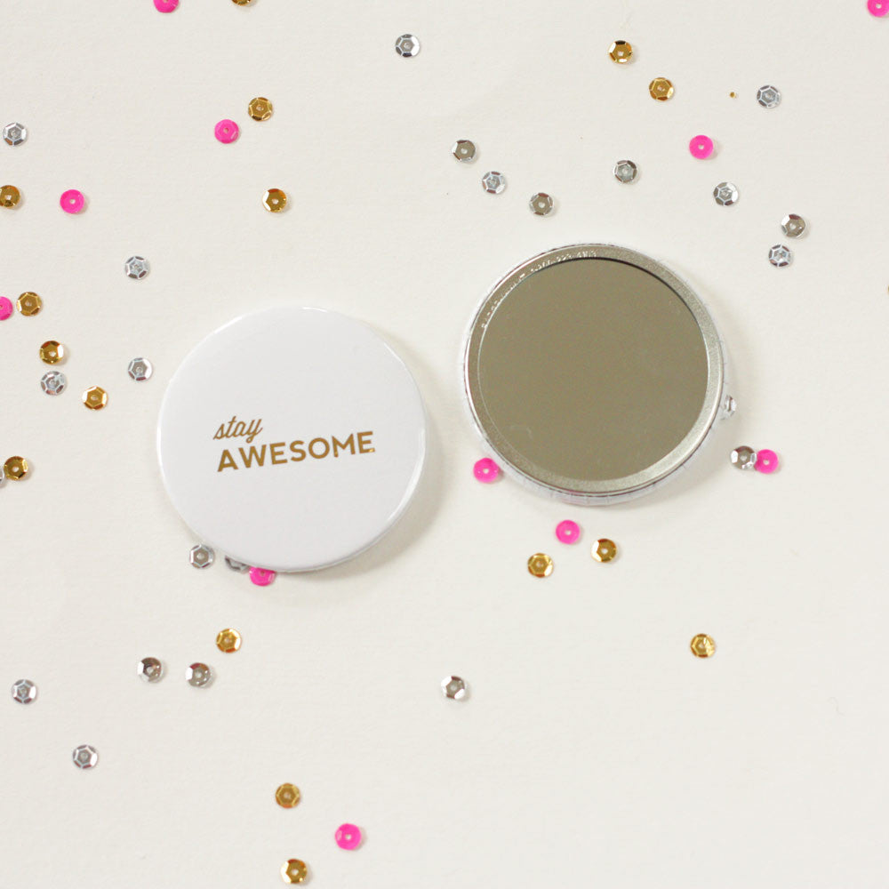 Stay Awesome Pocket Mirror
