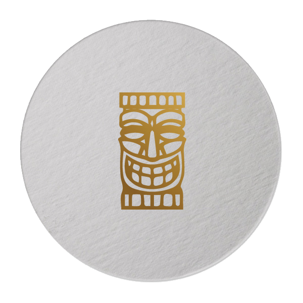 tiki mask coasters