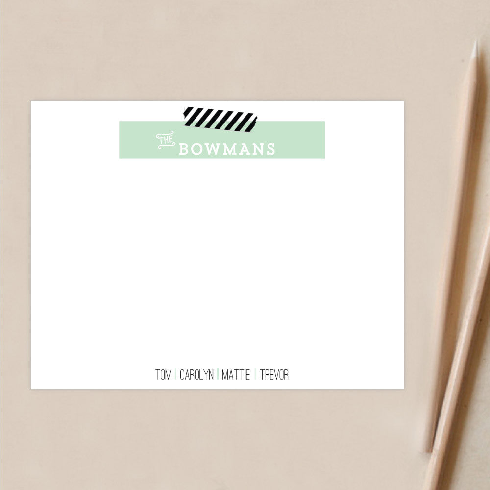 Personalized Stationery | Washi Tape Family