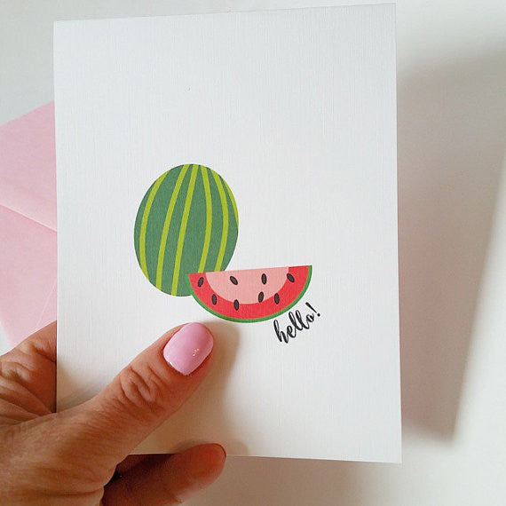 Greeting Cards | Watermelon Hello