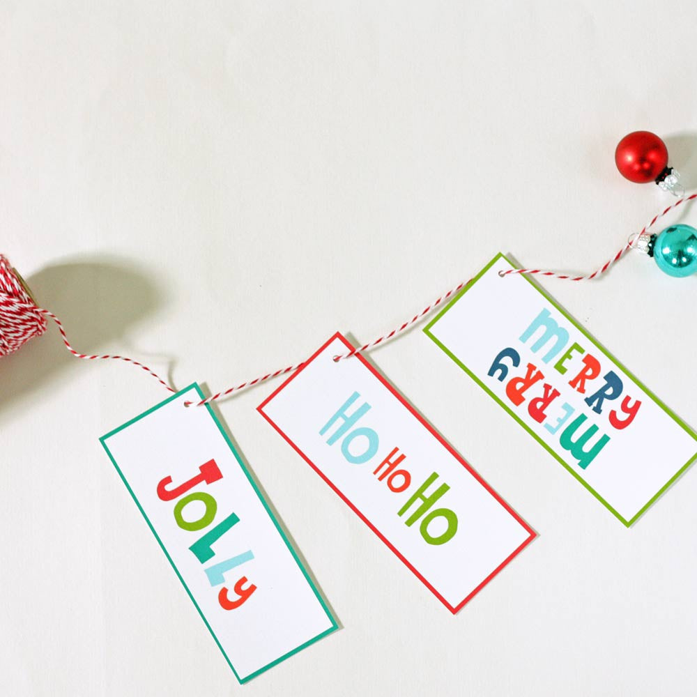 Jolly Gift Tags for Christmas Presents