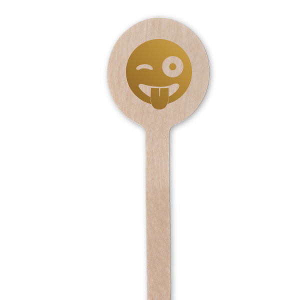 winky face cocktail stirrers