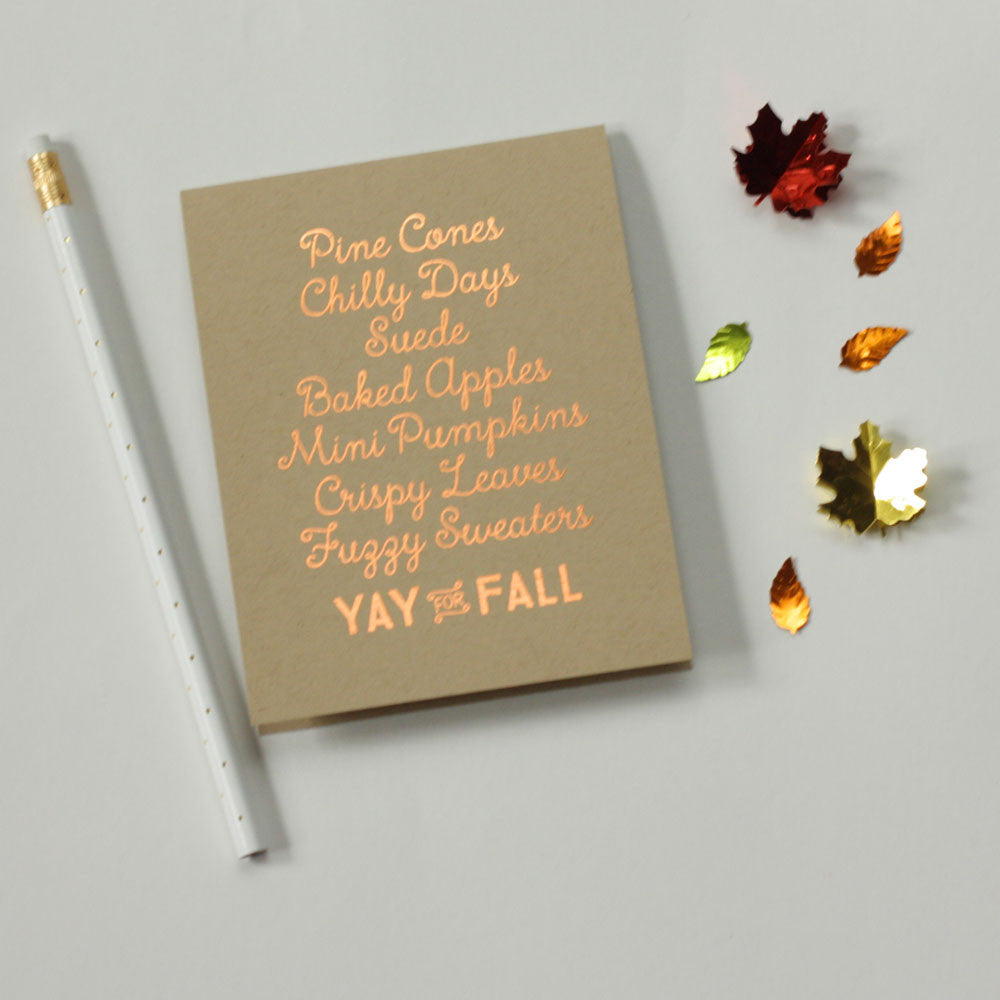 Yay For Fall Card
