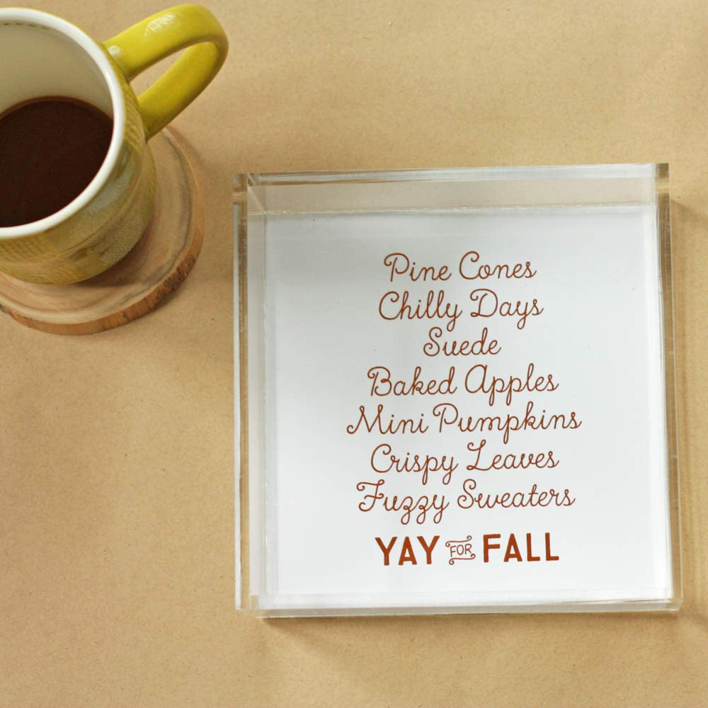 Yay For Fall Trinket Tray