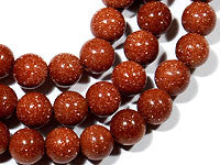Copper Goldstone Beads 8mm Round 16in