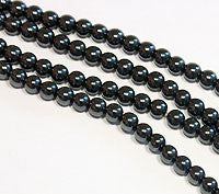 Hematite Beads 6mm Round 15.5 inches