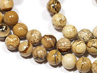 Picture Jasper Beads 6mm Round 15.5 inches