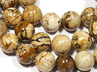 Picture Jasper Beads 8mm Round 16in