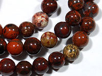Poppy Jasper Beads 6mm Round 15.5 inches