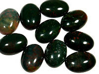 Bloodstone Cabochons 25x18mm Oval 3pc