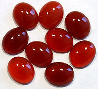 Carnelian Agate Cabochons 10x8mm Oval 4pc