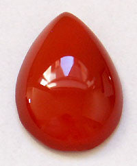 Carnelian Agate Cabochons 18x13mm Pear 3pc