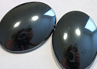 Hematite Cabochons 40x30mm Oval 1pc