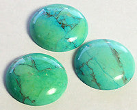Chinese Turquoise Howlite Cabochons 25mm Round 1pc