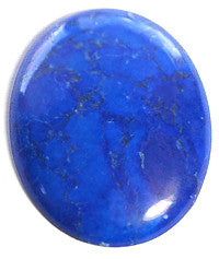 Lapis Howlite Cabochons 25x18mm Oval 3pc