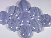 Blue Lace Agate Cabochons 25x18mm Oval 1pc