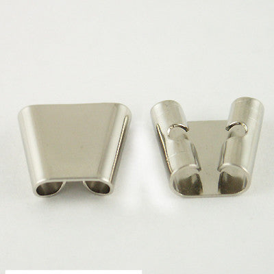 Bolo Slide 14mm Tapered SILVERTONE 2pc