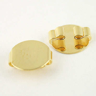 Bolo Slide 15mm Metal Disk GOLDTONE 2pc
