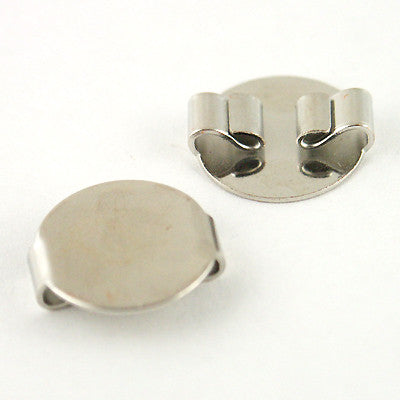Bolo Slide 15mm Metal Disk SILVERTONE 2pc