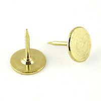 Tie Tack 9mm Pad 12mm Post GOLDTONE 12pc