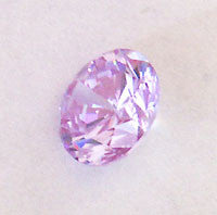 CZ Lavender 6mm Round Faceted Gems 5pc