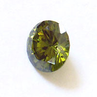 CZ Peridot 4mm Round Faceted Gems 5pc