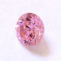 CZ Pink 4mm Round Faceted Gems 5pc