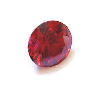 CZ Garnet Red 6mm Round Faceted Gems 5pc
