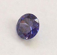 CZ Tanzanite Blue 4mm Round Faceted Gem 5pc