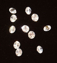 CZ White 4mm Round Faceted Gems 5pc