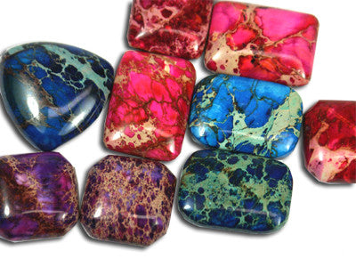 Impression Jasper Cabochons 20-25mm FREEFORM 2pc