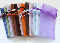 Organza Pouch Rainbow Colors MED 12pc
