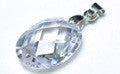 Cubic Zirconia Pendant OVAL 18x13mm CRYSTAL
