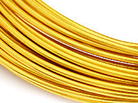 Aluminum Wire 12ga Round GOLD 39ft