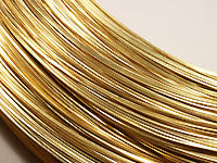 Brass Wire 18ga HALF ROUND Half Hard 25ft