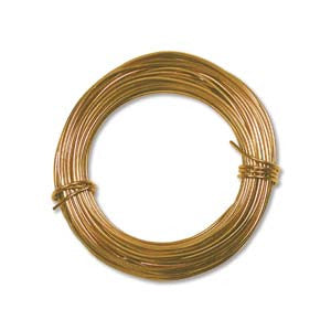 Aluminum Wire 18ga Round GOLD 39ft