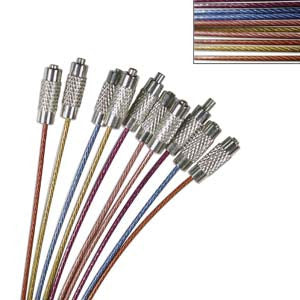 Crimp N Go Cable Necklaces Screw Clasp 20in ASST 10pc