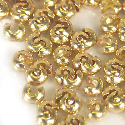 Crimp Bead Covers 3mm GOLDPLATE 144pc