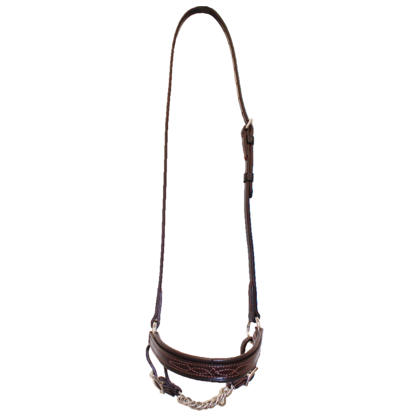 Walsh Drop Noseband with Curb Chain