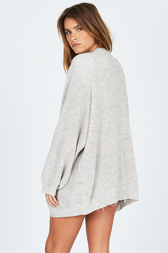 Amuse Get Down Sweater-Oatmeal Heather - Ella J Boutique