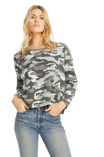 Chaser CAMO L/S Basic Pullover - Camouflage