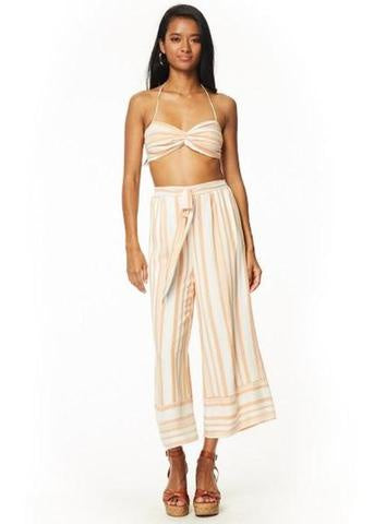 Lost + Wander Rum N' Coke Wide Leg Pants - Orange/White