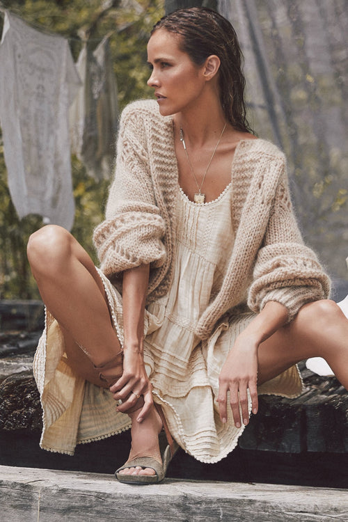 Spell Designs Surf Shack Knit Cardigan - Taupe