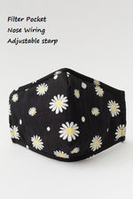 Black w/Daisys Adjustable Mask