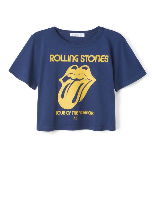 Daydreamer Rolling Stones Tour of the Americas '75 Rebel Crop - Navy