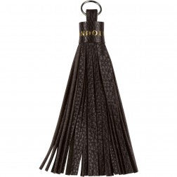 Bandolier Tassel - Pewter Hardware, Black/Pewter